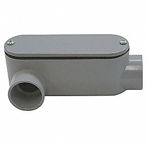 Conduit Outlet Body,PVC,LR