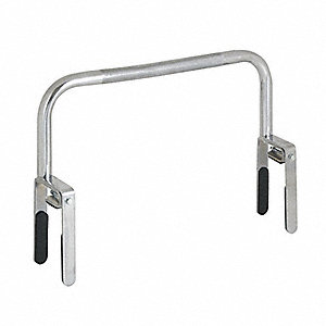 "7"" Fasten Chrome Plated Steel Safety Rail/Bar, Silver"