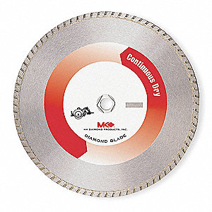 "7"" Dry Diamond Saw Blade, Turbo Rim Type"