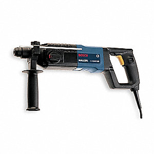 SDS Rotary Hammer Kit, 6.9 Amps, 0 to 800 Blows per Minute, 120 Voltage