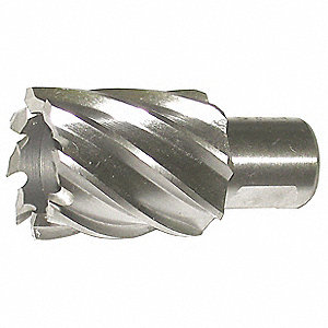 "1-1/8"" Dia. M42 Cobalt Annular Cutter, 2"" Cutting Depth"