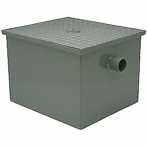 Grease Trap Interceptor,4 In,50 GPM