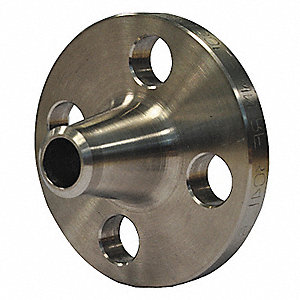 "316 Stainless Steel Weld Neck Flange, Welded, 2-1/2"" Pipe Size - Pipe Fitting"