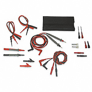 4 ft. Modular Test Lead Kit, CAT III 1000V, CAT II 300V Instrument Safety Rating