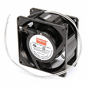 "Square Axial Fan, 3-1/8"" Width, 3-1/8"" Height, 230VAC Voltage"