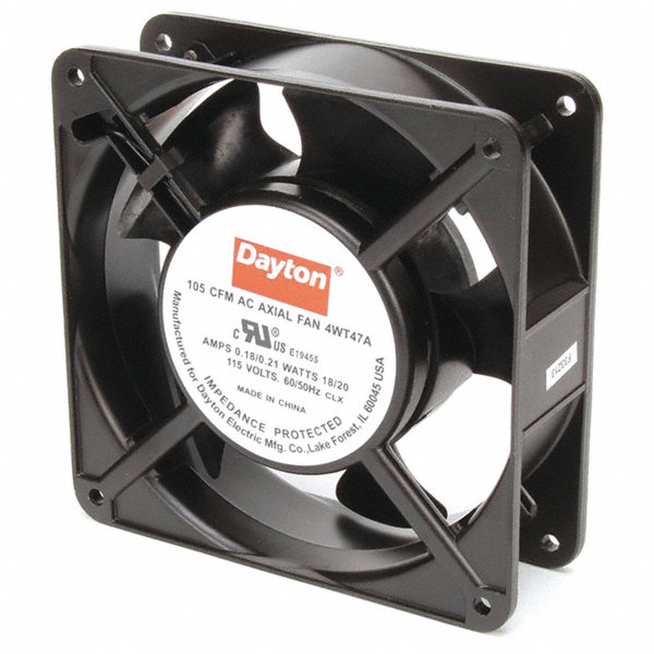 Dayton Square Axial Fan 4 11 16 Quot Width 4 11 16 Quot Height