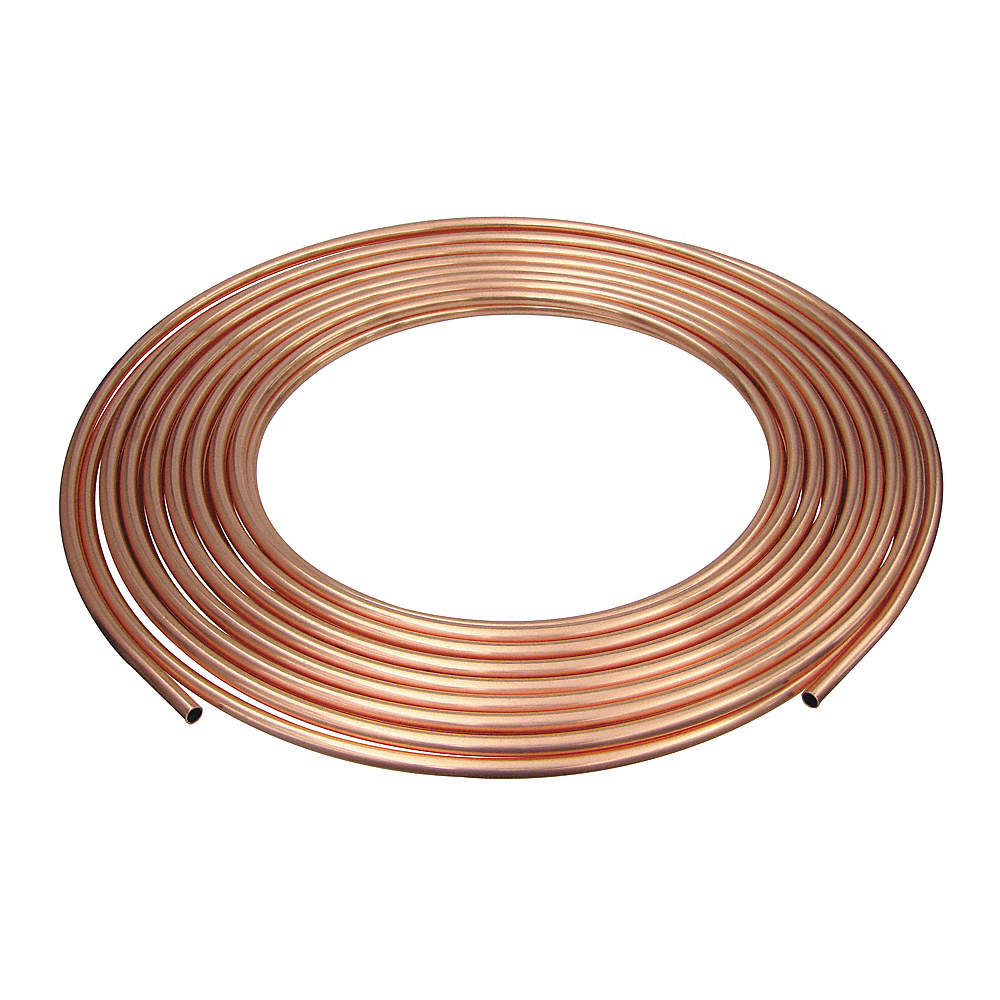 MUELLER INDUSTRIES 100 ft. Soft Coil Copper Tubing, 1/4\