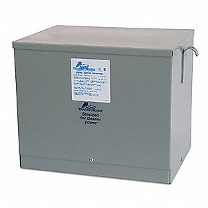 General Purpose Transformer, 9kVA VA Rating, 480VAC Input Voltage, 208VAC Wye/120VAC Output Voltage