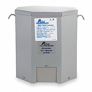 Wall-Mount 120/208/240/277VAC General Purpose Transformer, 10kVA, 120/240VAC Output Voltage