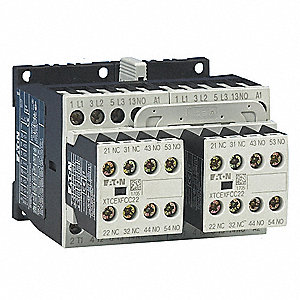 208VAC IEC Magnetic Contactor; No. of Poles 3, Reversing: Yes, 9 Full Load Amps-Inductive
