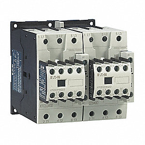 208VAC IEC Magnetic Contactor; No. of Poles 3, Reversing: Yes, 40 Full Load Amps-Inductive