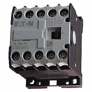 208VAC Miniature IEC Magnetic Contactor; No. of Poles 3, Reversing: No, 9 Full Load Amps-Inductive