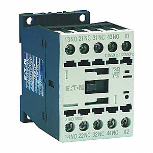 4NO IEC Control Relay, 16A, 208VAC, Din Rail Mounting