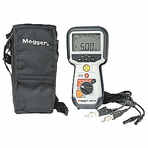Digital/Analog LCD Battery Operated Megohmmeter&#x3b; Insulation Resistance Range: 100 gigohm