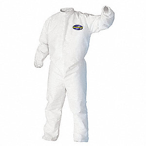Disposable Coveralls,White,3XL,PK21