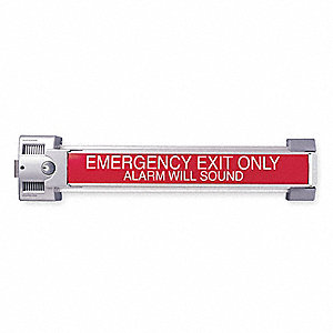 Exit Device, Series 2600, Dull Chromium, Rim w/Alarm