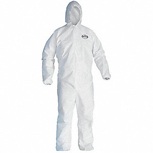Hooded Disp. Coveralls,White,3XL,PK21