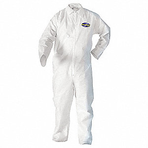 Disposable Coveralls with Open Material, White, M
