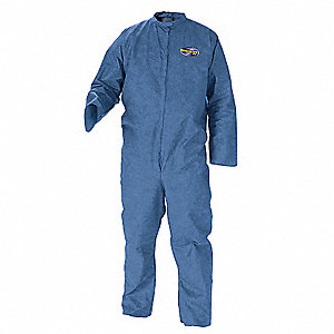 Disposable Coveralls with Open Cuff, Blue, L, SMS