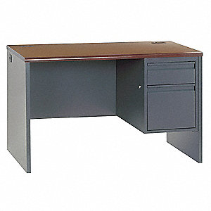 Office Desk,48 x 29-1/2 x 30 In,Charcoal