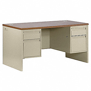 Office Desk,72 x 29-1/2 x 36 In,Putty