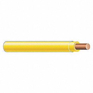 Solid THHN Building Wire, Yellow, 2500 ft. 12 AWG