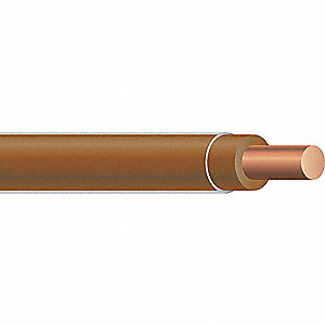 Solid THHN Building Wire, Tan, 2500 ft. 12 AWG