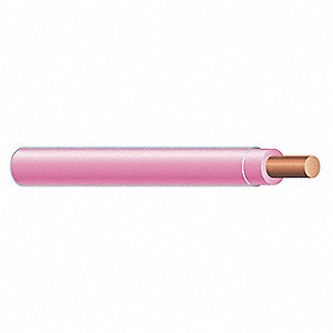 Solid THHN Building Wire, Pink, 500 ft. 12 AWG