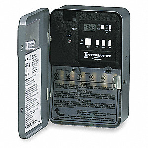 Electronic Water Heater Timer, 30 Amps, 240VAC Voltage, Number of Channels: 1