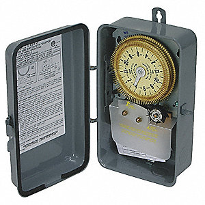 Electromechanical Timer, 120VAC Voltage, 20 Amps, Max. Time Setting: 23-3/4 hr.