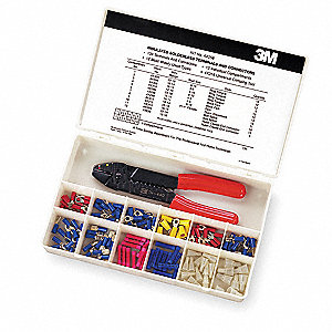 Wire Terminal Kit, Terminal Type:  Vinyl Insulated, Number of Pieces: 134, Number of Sizes:  4