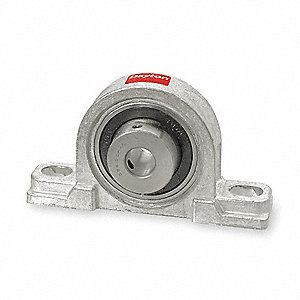 "Pillow Block Bearing, Number of Bolts: 2, Ball Bearing Type, 1"" Bore Dia."