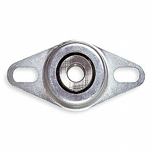 "Flange Bearing,2-Bolt,Ball,1/2"" Bore"