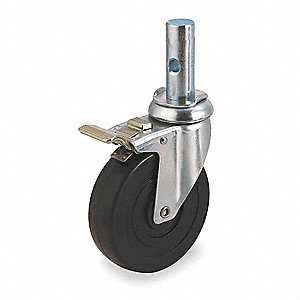"5"" Light-Duty Swivel Stem Caster, 240 lb. Load Rating"