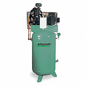 7-1/2 HP,  80 gal. Vertical Splash Lubricated Tank Mounted Electric Air Compressor, CFM: 23.1