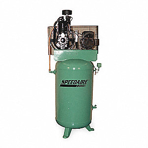 Electric Air Compressor,2 Stage,7-1/2 HP