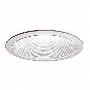 "6"" White Coilex Baffle Style Halogen, Incandescent, LED Recessed Downlight Trim, White Baffle"