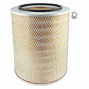 "Air Filter, Round, 13-3/8"" Height, 13-3/8"" Length, 11-1/8"" Outside Dia."