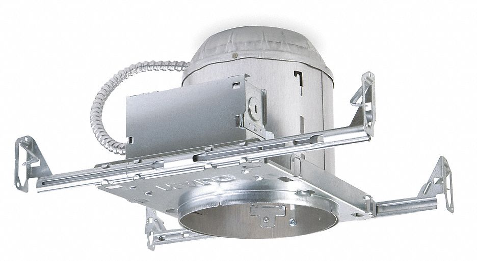Halo 6 incandescent recessed downlight housing for airtight new construction ic rated 75 0 max wattage 4xb20h7icat grainger