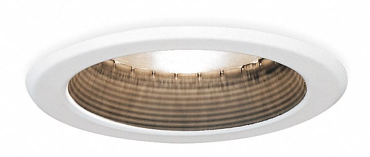 5 in White Baffle Splay Style Halogen, Incandescent, LED Recessed Downlight Trim, Black Baffle