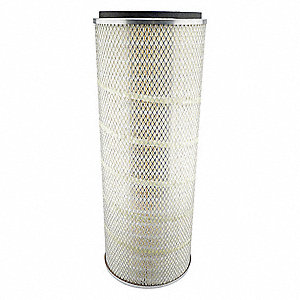 "Air Filter, Round, 24-1/2"" Height, 24-1/2"" Length, 9-1/4"" Outside Dia."