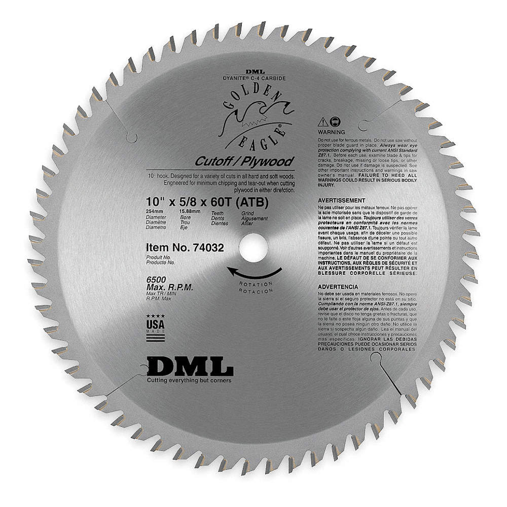 Dml circular saw blade10 in60 teeth 4xd4174032 grainger zoom outreset put photo at full zoom then double click keyboard keysfo Choice Image