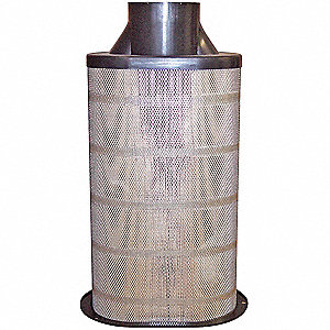 "Air Filter, Oval, 25"" Height, 25"" Length, 7-3/8"" to 12-1/8"" Outside Dia."