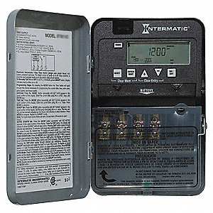 Electronic Timer, 30 Amps, 120/208 to 240/277VAC Voltage, Operation Mode: 24 hr., Number of Channels
