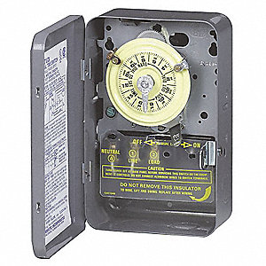 Electromechanical Timer,24 hr.,40A,NEMA1