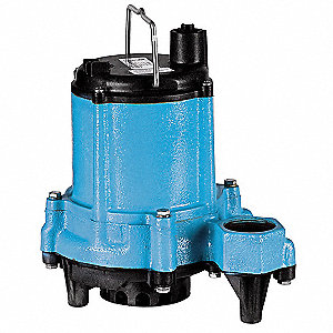 1/3 HP Submersible Sump Pump, None Switch Type, Polypropylene Base Material
