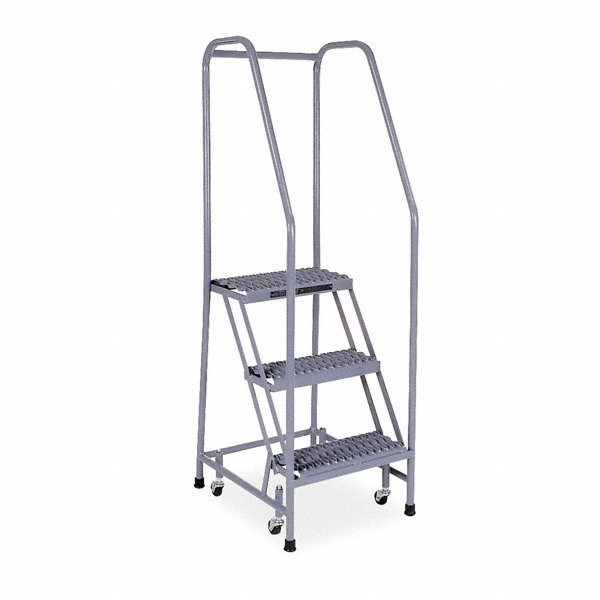 Cotterman 3 Step Rolling Ladder Serrated Step Tread 60