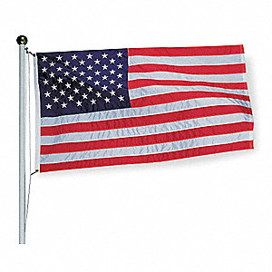 US Flag, 5 ft.H x 8 ft.W, Nylon