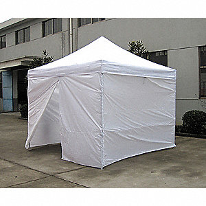 "White Shelter, 9 ft. 8.5"" Length, 10 ft. Width, 10 ft. 4"" to 11 ft. 5"" Center Height"