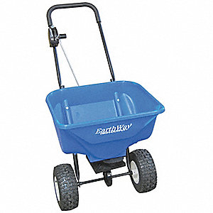 Broadcast Spreader, 65 lb. Capacity, Pneumatic Wheel Type, High Output Drop Type, Loop Handle